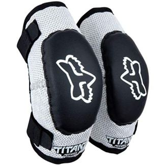 Fox Pee Wee Titan Elbow Guards Black/Silver