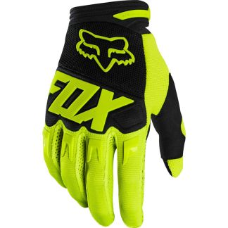 Fox Dirtpaw Race Youth Gloves Flo Yellow