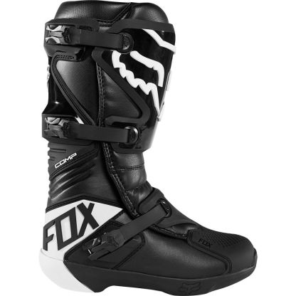 Fox Comp Black Boots Motocross Adult Outerside