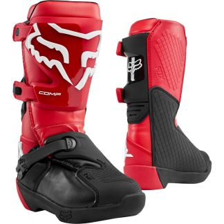 Fox Youth Comp Boots Flame Red