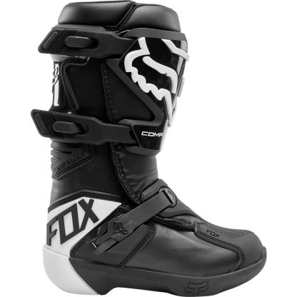 Fox Youth Comp Boots Black Side