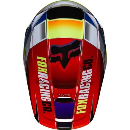 Fox V1 Yorr Helmet Blue/Red Youth Top