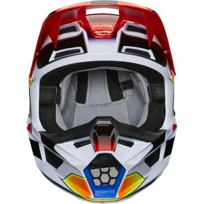 Fox V1 Yorr Helmet Blue/Red Youth Front