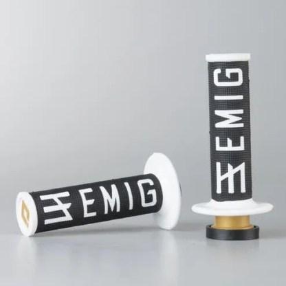 ODI EMIG Racing Lock-on Grip Set Black/White