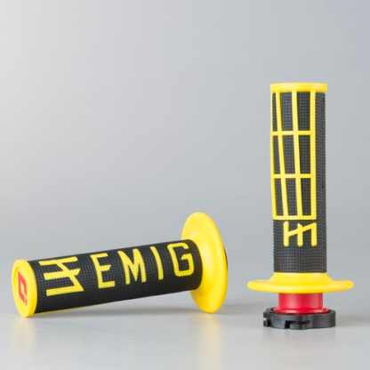 ODI EMIG Racing Lock-on Grip Set Black/Yellow