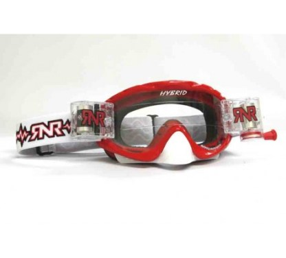 RNR Rip n Roll Hybrid Fully Loaded Roll Off Goggles Brilliant Red