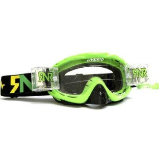 RNR Hybrid Fully Loaded Roll Off Goggles Lime Green