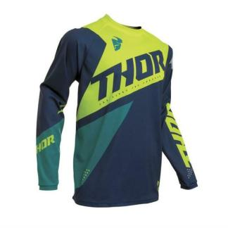 Thor Sector Blade Jersey Navy/Acid Youth