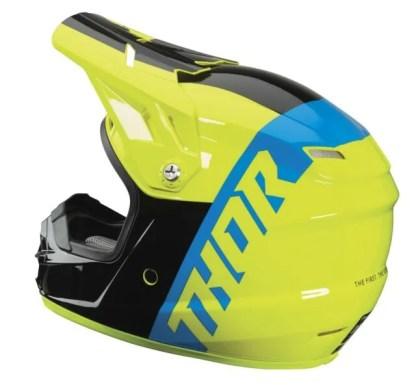 Thor Sector Shear Helmet BLACK ACID Youth Side