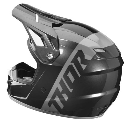 Thor Sector Shear Helmet BLACK CHARCOAL Youth Side