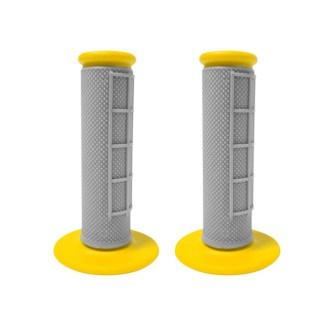 APICO HANDLEBAR GRIPS GREY YELLOW