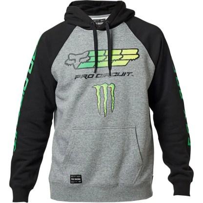 Fox Monster Pro Circuit Hoodie Black front
