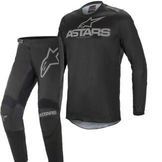 Alpinestars FLUID Graphite Black Dark Grey 2021 MX Kit Adult