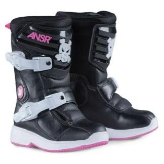 Ansr Pee Wee Kids Boots Black Pink