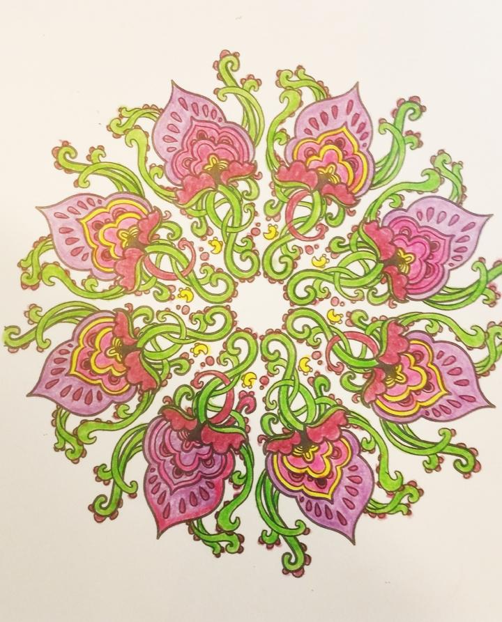 Spiritual Warrier Mandala Art