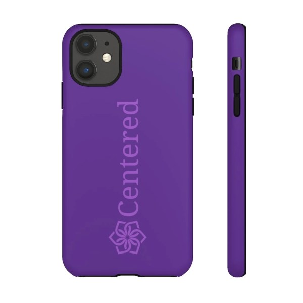 Blue Iphone11 Centered Tough Phone Cases