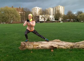 Side lunge (log not necessary!)