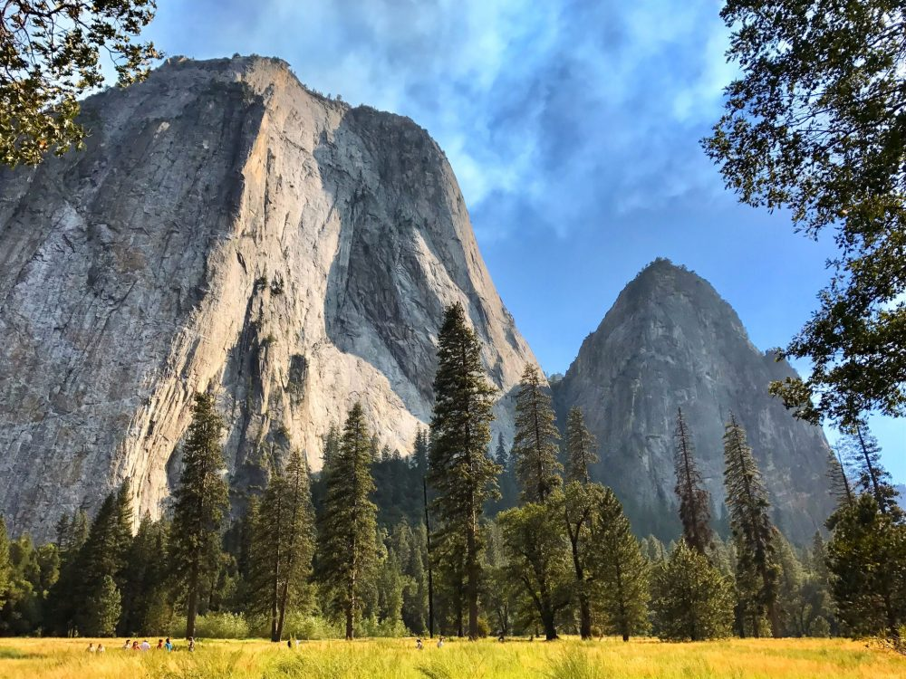 View of Yosemite Valley and Cathedral Rocks