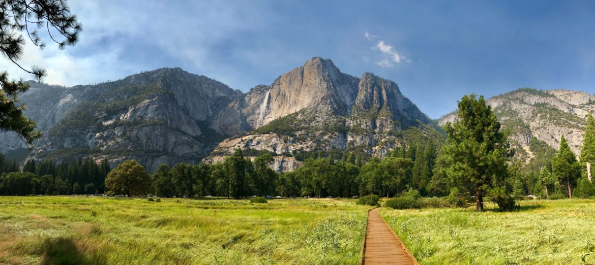 View of Yosemite Falls from Cook's Meadow Trail