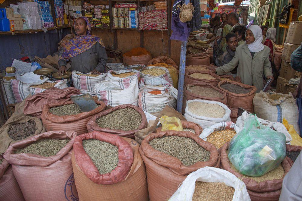 At Merkato market in Addis Ababa, Ethiopia