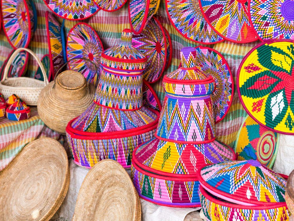 Ethiopian handmade Habesha baskets