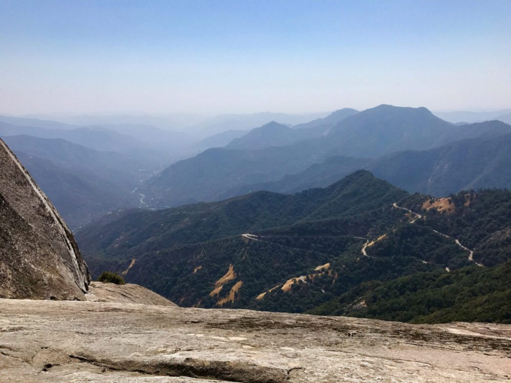 More beautiful views on the way up Moro Rock