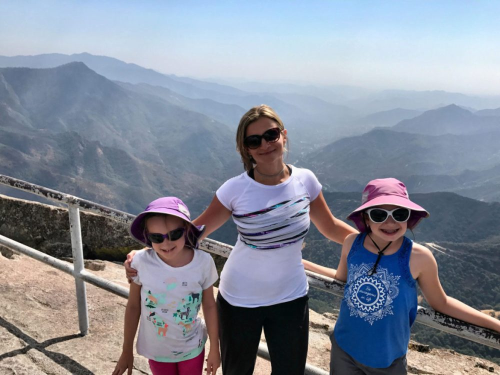 On top of Moro Rock in Sequoia National Park