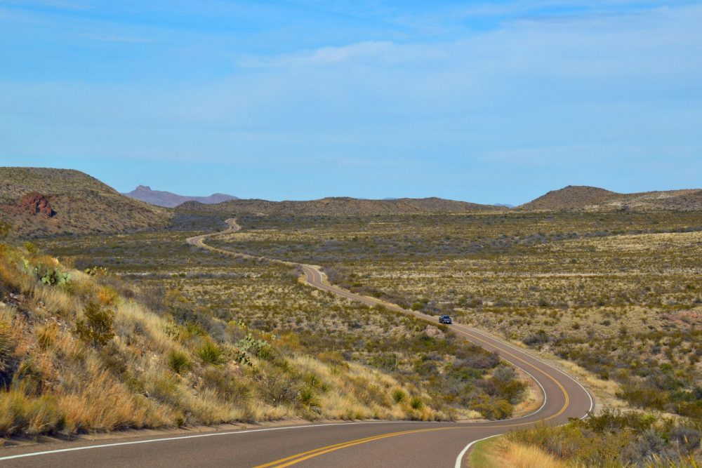 On the road to Chisos Basin