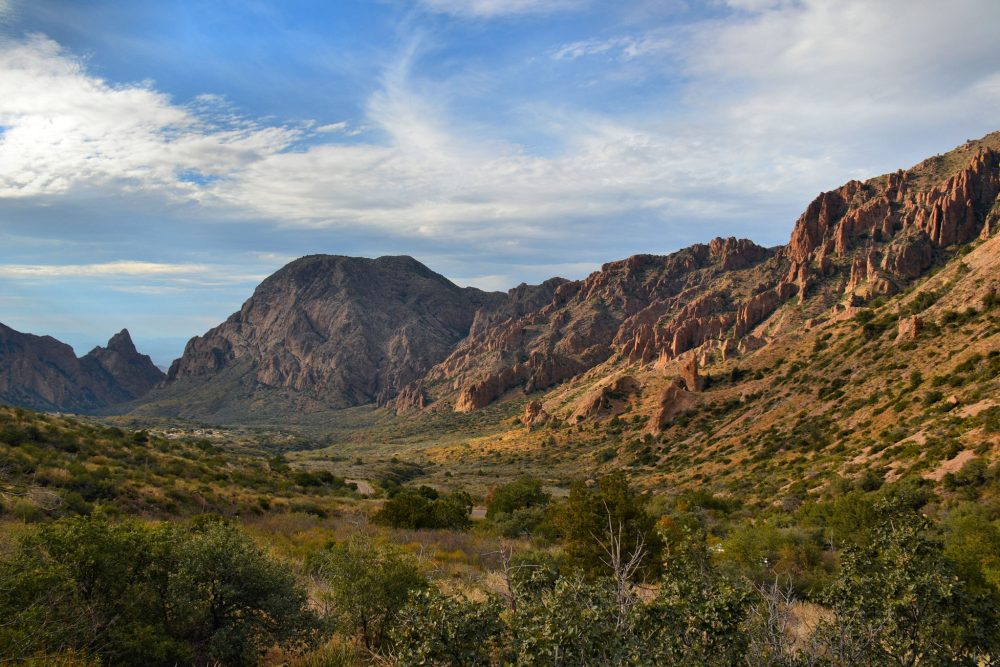 View of Chisos Basin from the road