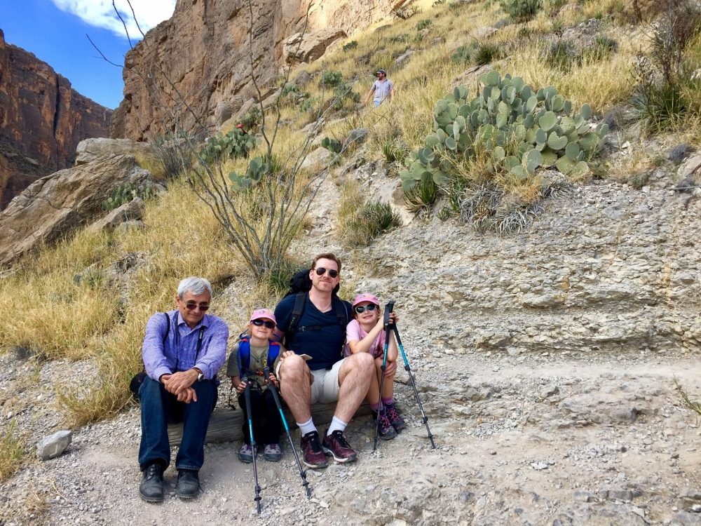 Resting on Santa Elena Canyon Trail