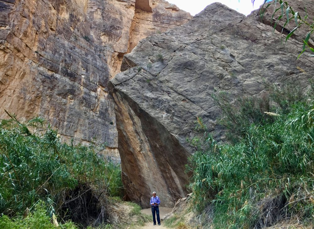 The end of Santa Elena Canyon Trail