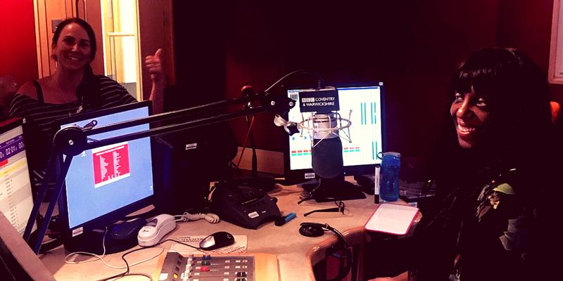Photo of Sandra Godley and myself in the BBC studio