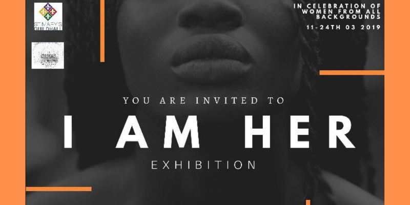 Flyer for the #IAmHer Art Exhibition