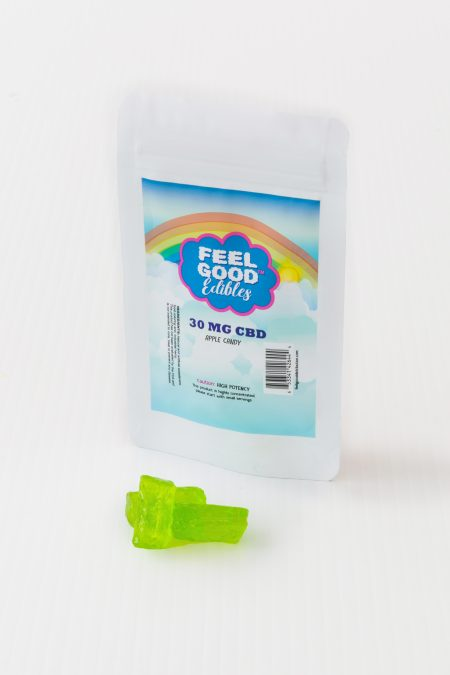 CBD infused Apple Candy edibles package