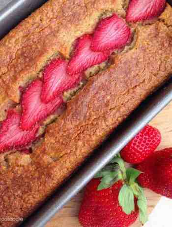 A simple twist on traditional banana bread, this Low-fat Strawberry Banana Bread is made without any butter or oil - low in fat, high in taste!