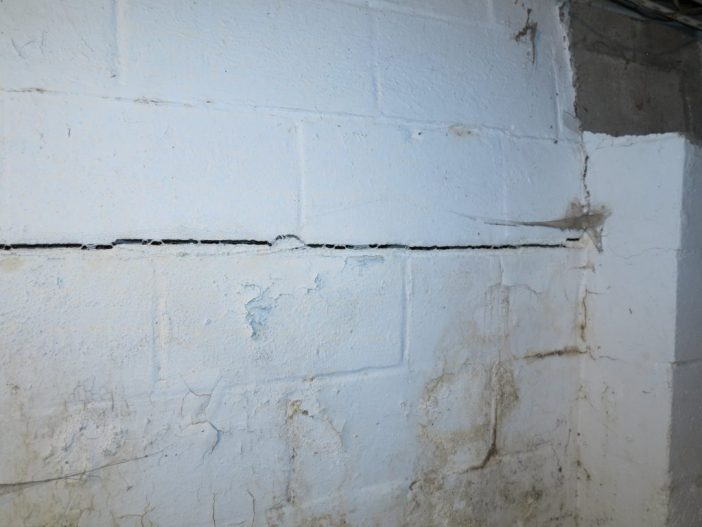 cracks found in foundation found during inspection
