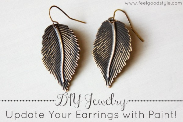 DIY Jewelry: Update Your Earrings with Paint!