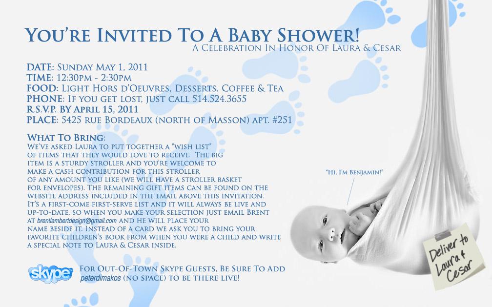 Lady Bug Baby Shower Invitations