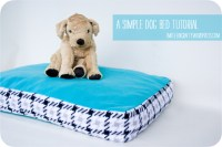 A Simple Dog Bed Tutorial for Go To Sew