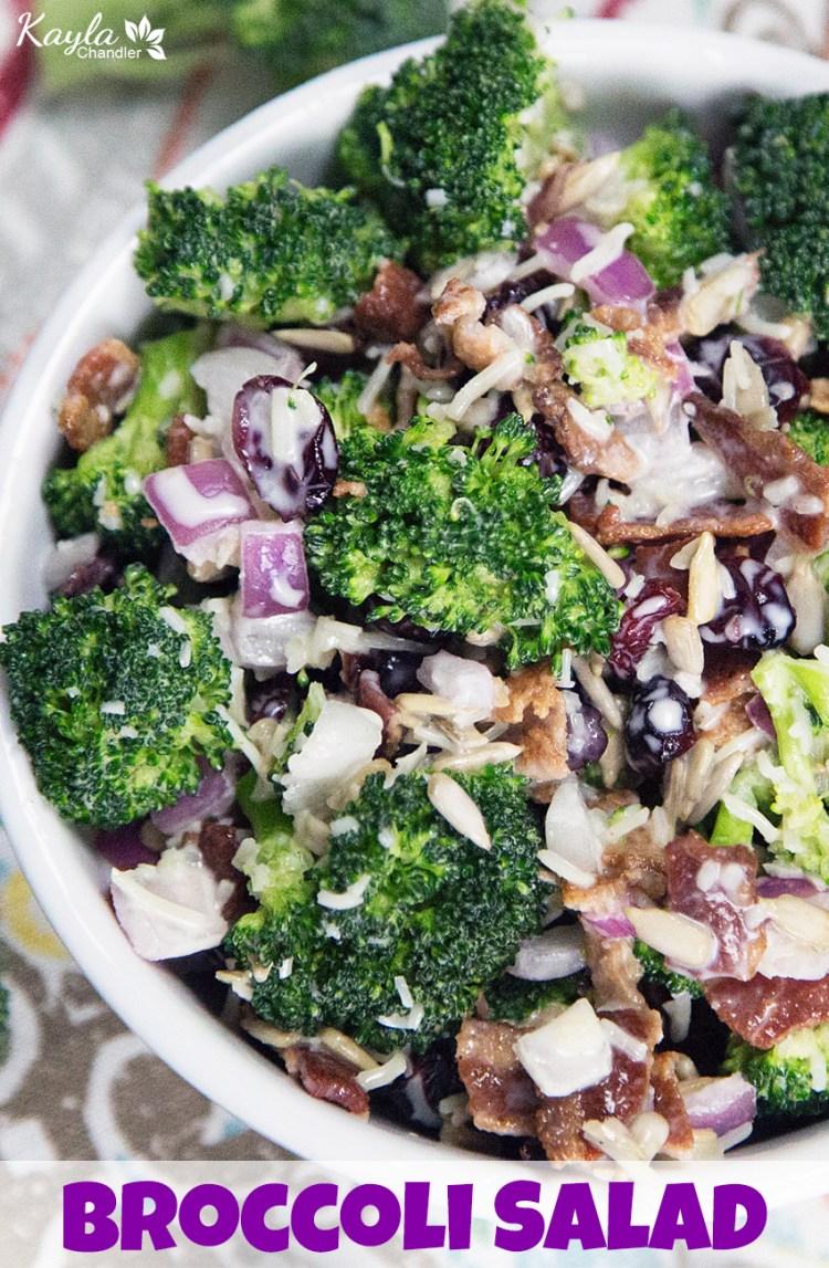 Healthy Creamy Broccoli Salad Recipe