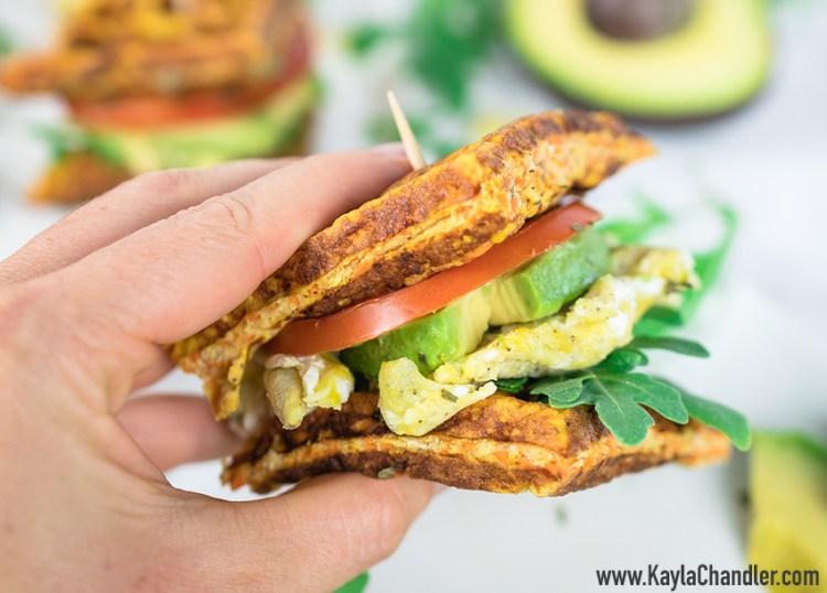 Healthy Paleo Breakfast Recipes | Breakfast Waffle Sandwich
