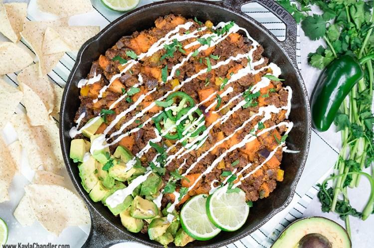 Paleo Sweet Potato Taco Skillet | 10-Minute Dinner Recipe
