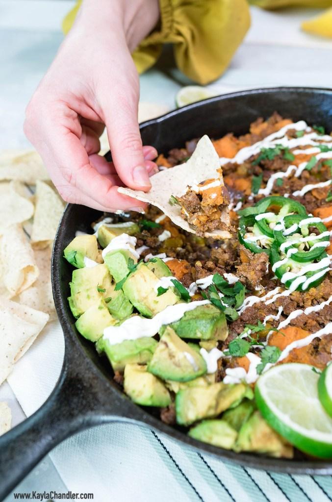 Gluten Free Paleo Dinner - Taco Skillet