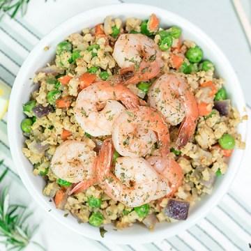 Low Carb Keto Cauliflower Fried Rice Dinner