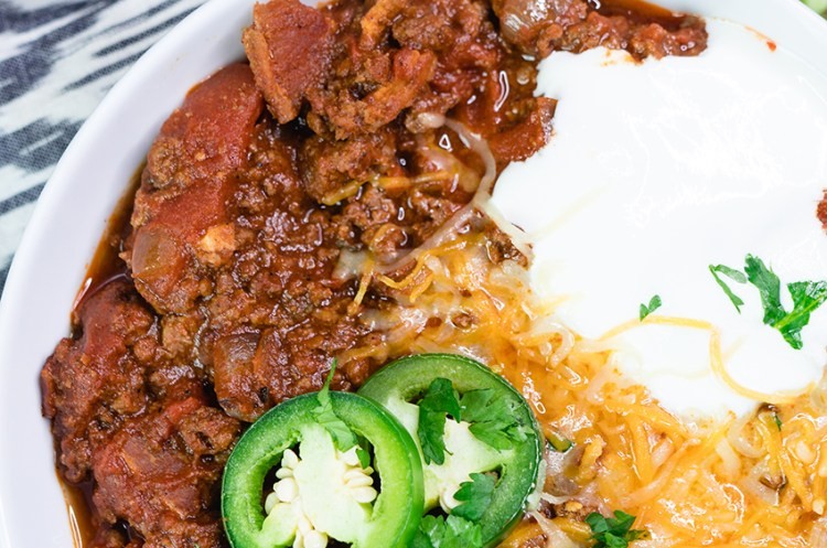 Hearty Beef and Bacon Keto Chili
