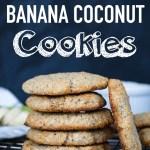 2-Ingredient Banana Coconut Cookies | Healthy Snack Recipes