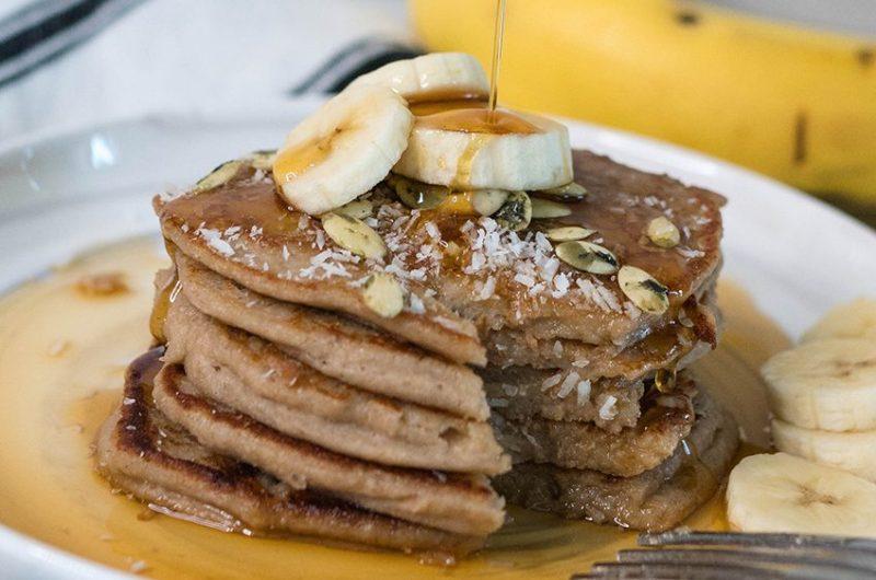 Gluten Free Banana Oatmeal Pancakes | Healthy Pantry Meals