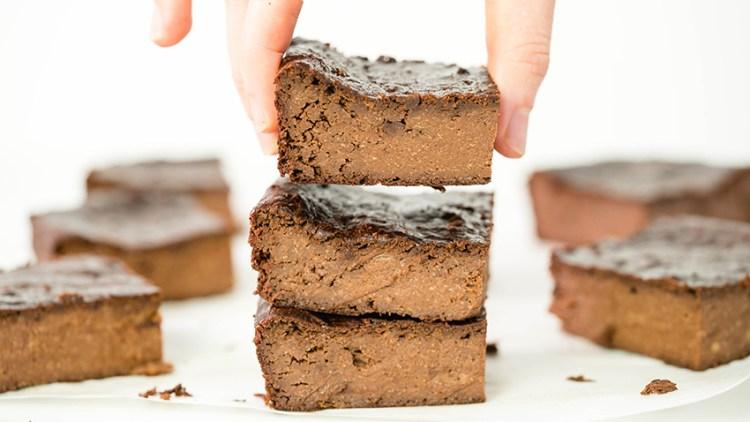 3-Ingredient Fudgy Brownies | Healthy Brownie Recipe