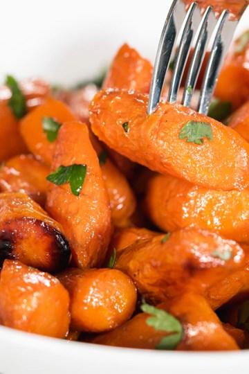 Honey Butter Glazed Carrots   Healthy Side Dish! (gluten free)