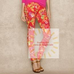 Ralph Lauren - Blue Label Floral-Print Skinny Jean